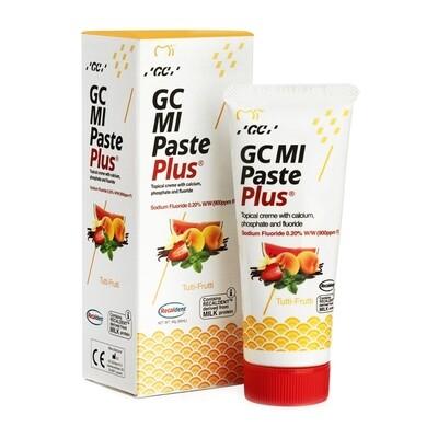 GC MI Paste Plus - крем c фтором, для реминерализации и снижения чувствительности Мультифрут, 40 г