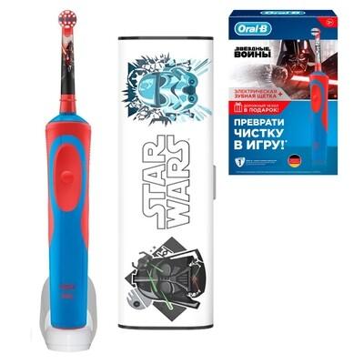 Электрическая зубная щетка Oral-B Vitality Kids Stages Power Звездные войны (с 3 лет) с дорожным чехлом