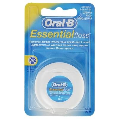 Нить невощеная Oral-B Essential, 50 м