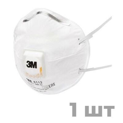Респиратор 3М 8112, класс защиты FFP1, с клапаном выдоха (1 шт)
