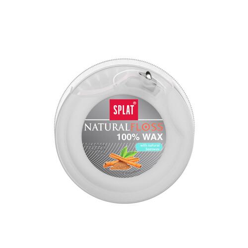 Нить объемная вощеная SPLAT Dental Floss с ароматом корицы, 30 м