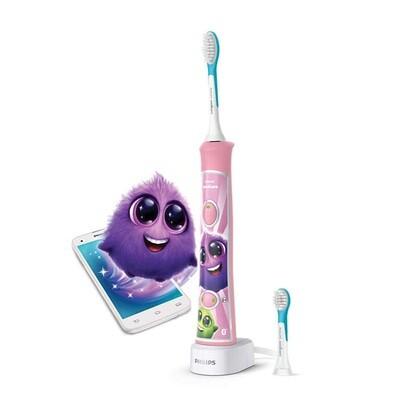 Электрическая зубная щетка Philips Sonicare For Kids HX6352 с поддержкой Bluetooth Розовая