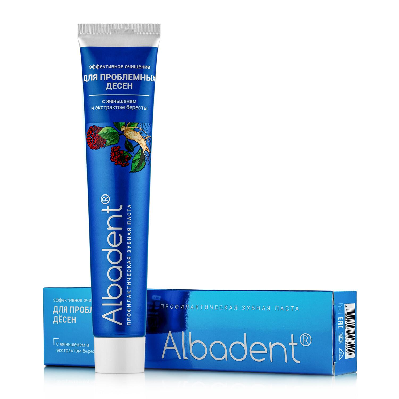 Зубная паста Альбадент для проблемных десен