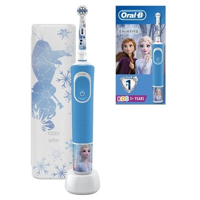 Электрическая зубная щетка Oral-B Vitality Kids Frozen II D100.413.2KX с футляром