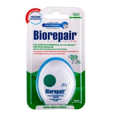 Вощеная скользящая зубная нить Biorepair Filo Cerato Scorrevole