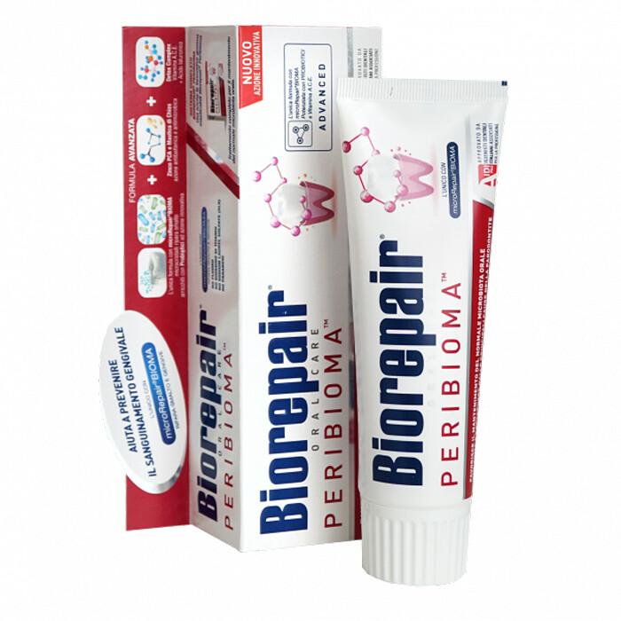Паста Biorepair PERIBIOMA PRO с частицами microRepairBIOMA для здоровья полости рта, 75 мл