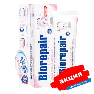 Зубная паста Biorepair Gum Protection Защита десен, 75 мл.