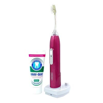Ультразвуковая зубная щетка Emmi-Dent 6 Professional Rosa Розовый металлик
