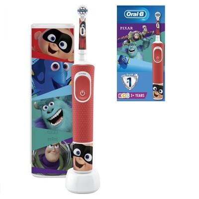 Электрическая зубная щетка Oral-B Vitality Kids Pixar D100.413.2KX с футляром