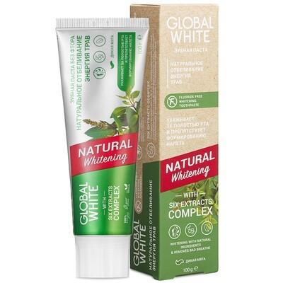 Отбеливающая зубная паста GLOBAL WHITE Natural Whitening, 100 гр