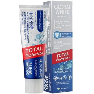 Зубная паста GLOBAL WHITE Максимальная защита, 100 гр
