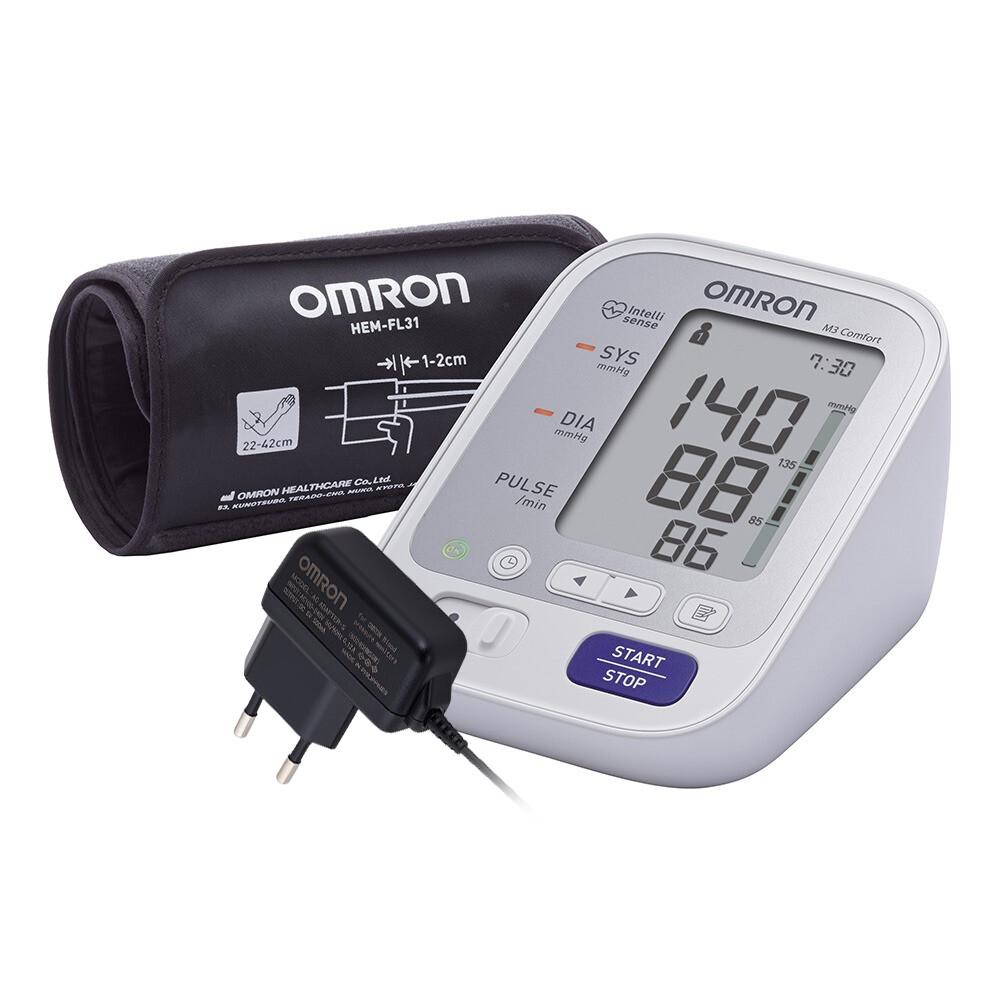 Тонометр Omron M3 Comfort с универсальной манжетой и адаптером