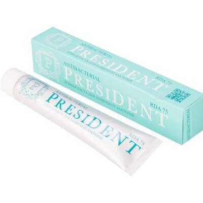 Зубная паста PRESIDENT Antibacterial, 50 мл