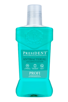 Ополаскиватель для полости рта PRESIDENT PROFI Antibacterial, 250 мл