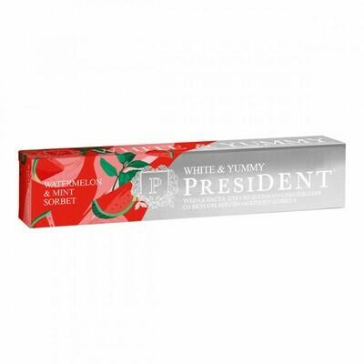 Зубная паста PresiDENT White & Yummy Арбузно-мятный сорбет, 75 г