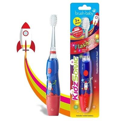Электрическая зубная щетка Brush-Baby KidzSonic (с 3 лет), ракета