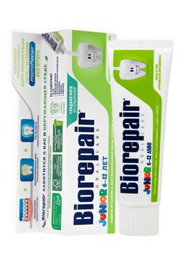 Детская зубная паста Biorepair Junior Mint, 75 мл (6-12 лет)