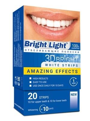 Профессиональные отбеливающие полоски Bright Light Amazing Effects, 20 шт