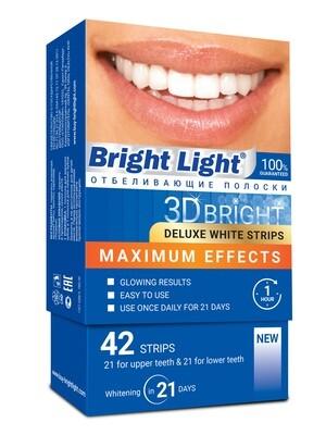 Профессиональные отбеливающие полоски Bright Light Maximum Effects, 42 шт