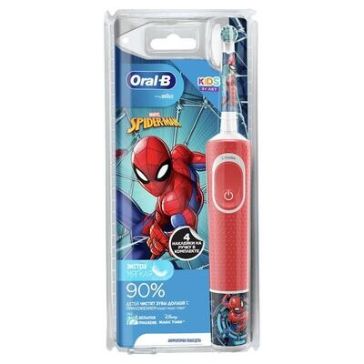 Электрическая зубная щетка Oral-B Vitality Kids Spider Man Человек-Паук (с 3 лет)