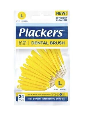 Межзубные ершики Plackers Dental Brush L 0,7 мм (24 шт)