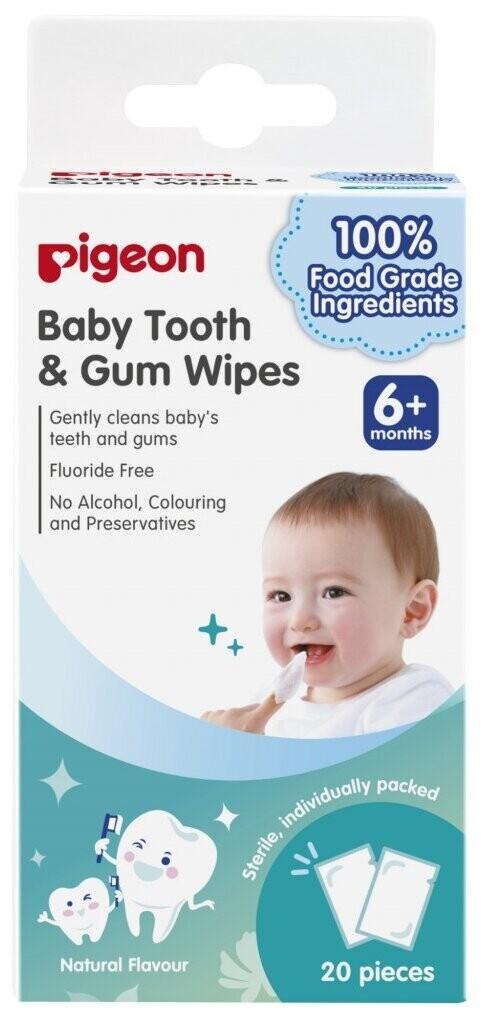 PIGEON Салфетки для чистки молочных зубов без аромата, 20 шт.