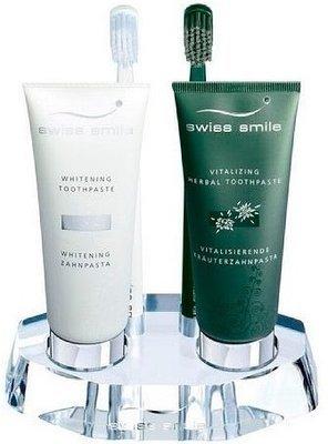 Подставка Swiss Smile акриловая для 2-х паст и 2-х щеток