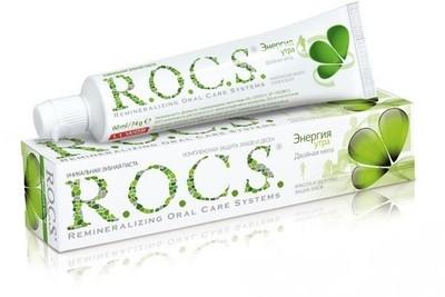 Зубная паста ROCS (РОКС) Энергия утра. Двойная Мята, 74 г.