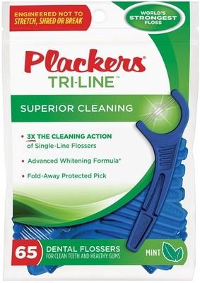 Флоссер Plackers Tri-Line, 65 шт.