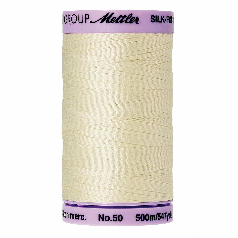 Silk Finish 50wt Antique White 9104 3612 Mettler