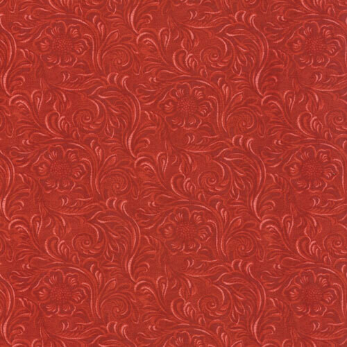 Tooled Leather Red