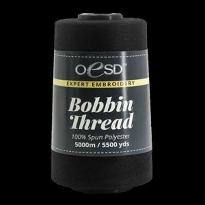Black Bobbin Thread 5000M