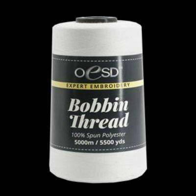 White Bobbin Thread 5000M