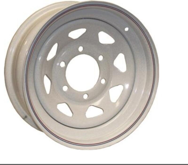 Wheel/Rim 15X5  SPK 5H -4.5 White