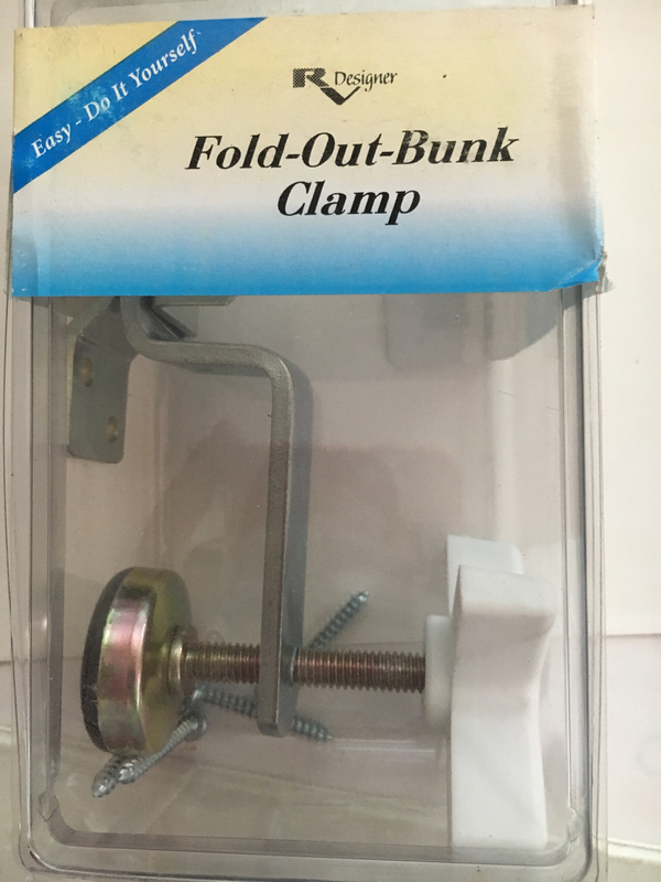 Fold-out-bunk Clamp