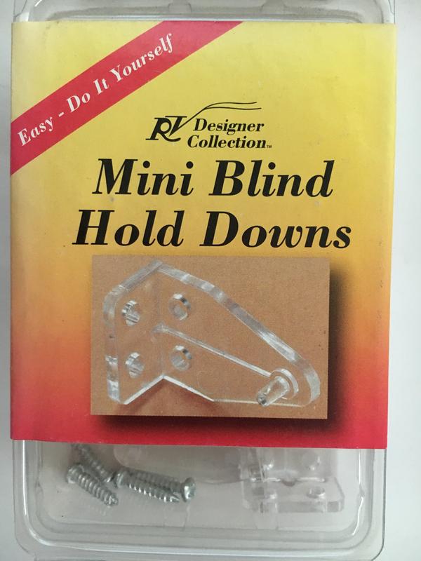 Mini Blind Hold Down