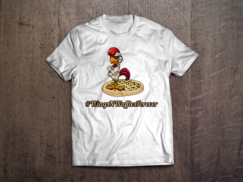 Wings N' Waffles Forever T-Shirt (White) [PREORDER]
