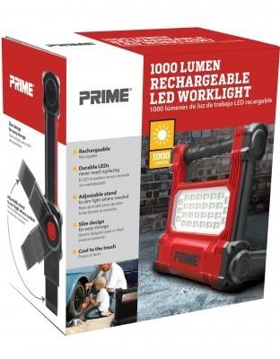 Prime 1000 Lumen Rechargable LED Worklight