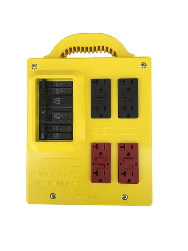 GMS Portable Power Distribution Center - YELLOW