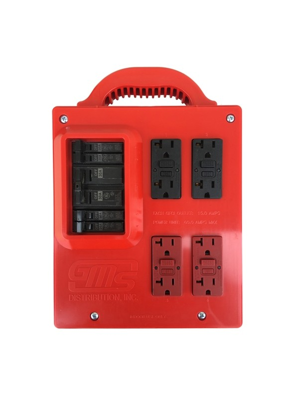 GMS Portable Power Distribution Center - RED