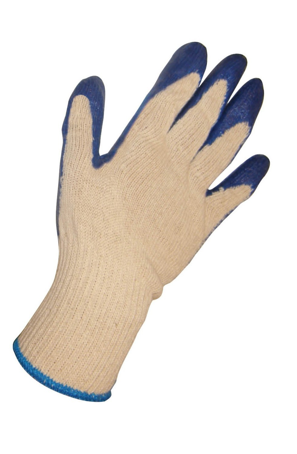 SAS Cotton/Poly Knit - Latex Coated Palm Gloves (Blue)