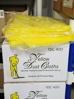 Yellow Treated Dust Cloths (50pk)
