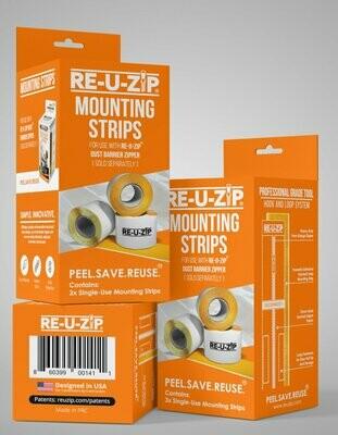 RE-U-ZIP Mounting Strip 3-Pack