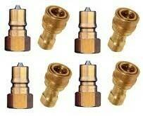 "1/4"" Brass Quick Connect Coupler Set (4 each)"
