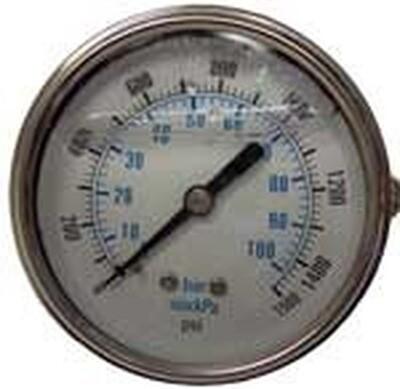 Pressure Gauge 1000psi Panel Mount