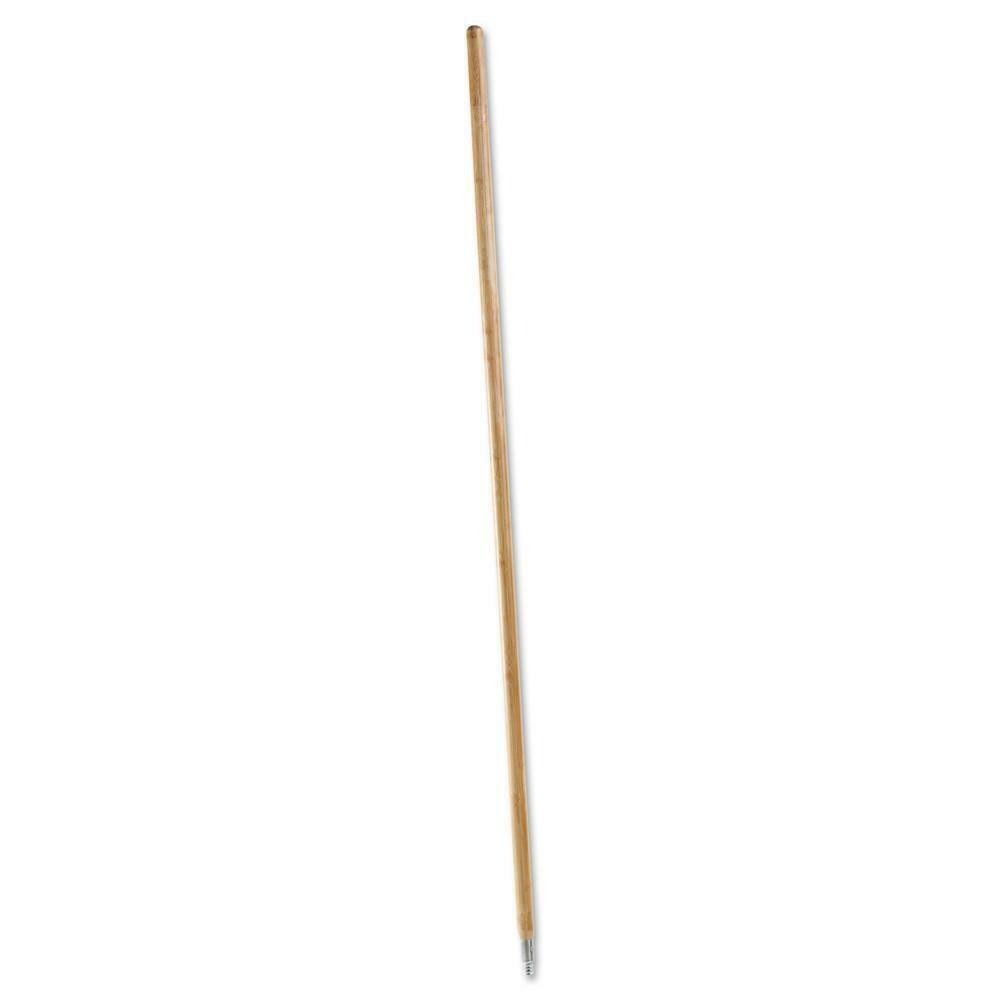 60 Inch Wood Brush Handle w/Metal Tip