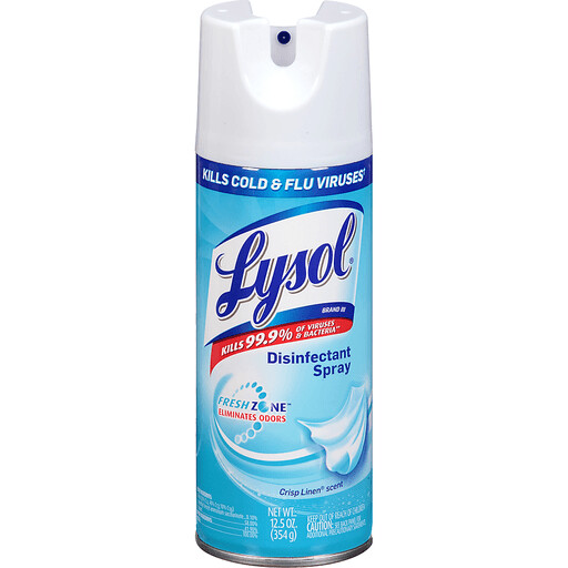 Lysol Disinfectant Spray, Crisp Linen (12 Pack)