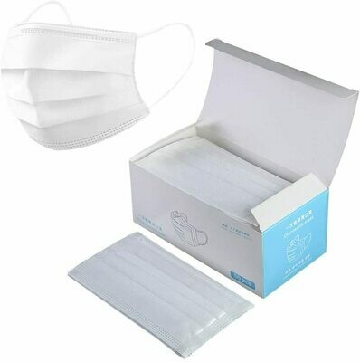Disposable Surgical Mask, White (50 pack)