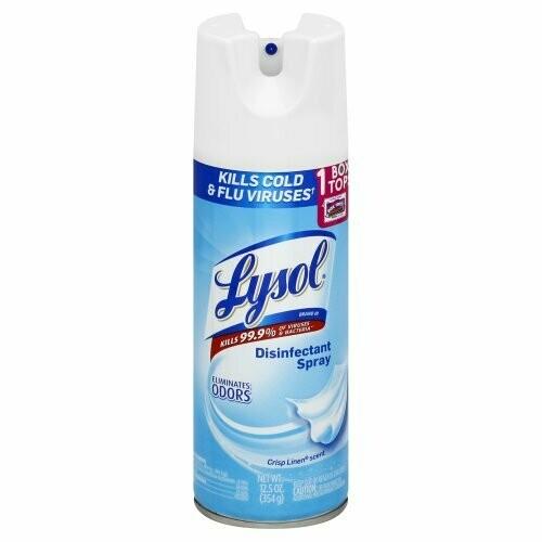 Lysol Disinfectant Spray, Crisp Linen (12 Pack)