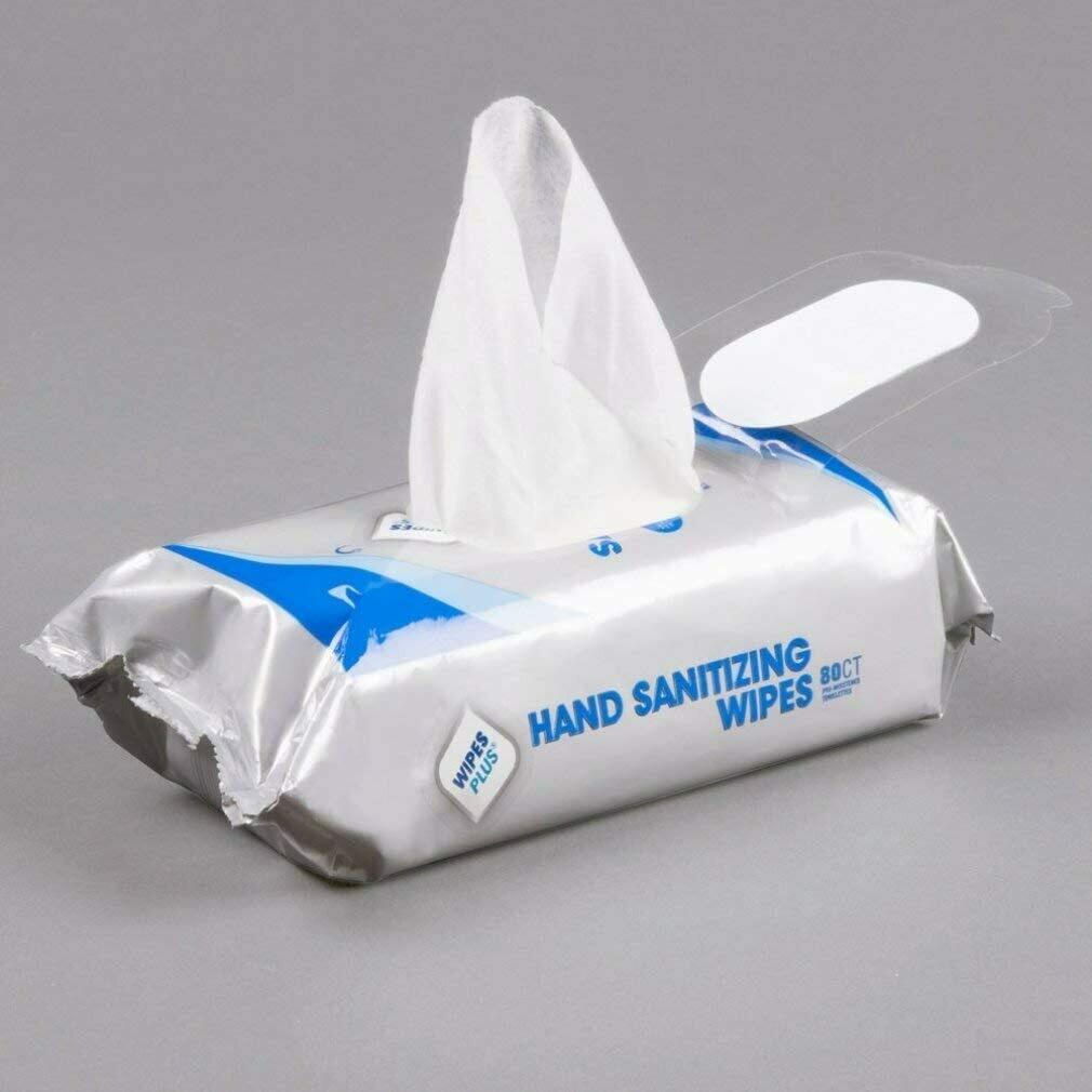 Wipes Plus Alcohol-Free Sanitizing Wipes, 80ct